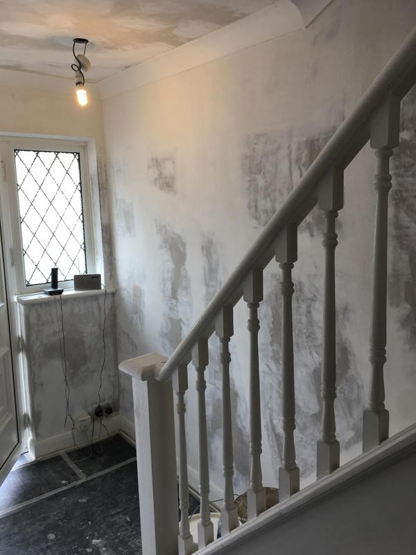 Image 20 - Wallpaper stripped off from the ceilings and walls, surfaces sealed and filled