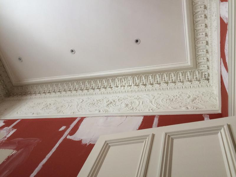 Image 16 - Ceiling and cornices prepared and sealed with stabilising solution