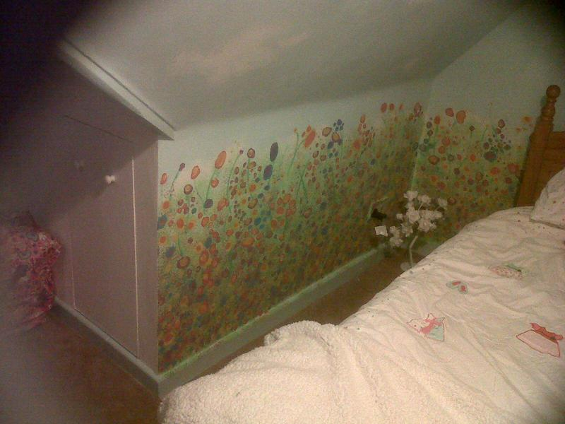 Image 2 - Fantasy bedroom of meadow flowers and sky, inspired by Yvonne Coomber.