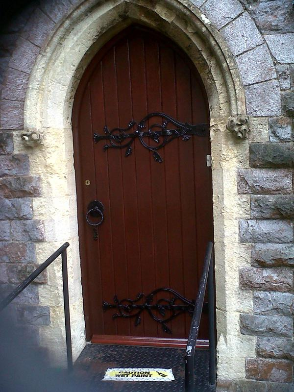 Image 7 - Restored church door.