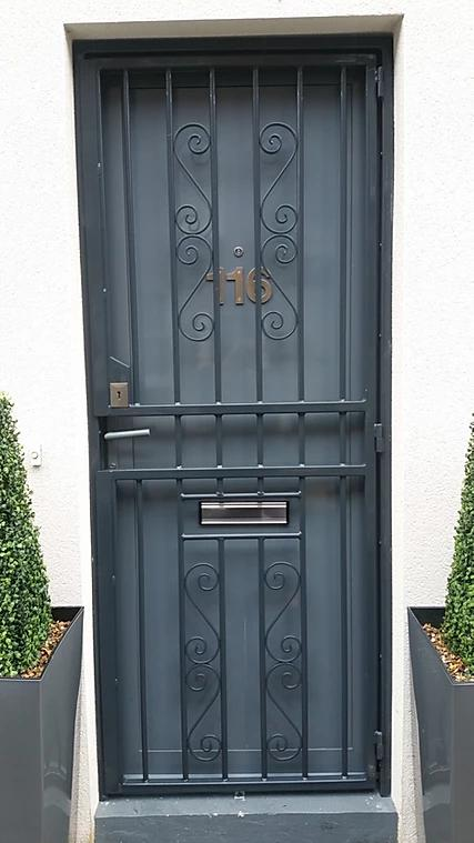 Image 51 - High Security Bar grilles Gates, galvanised and powder coated, high security deadlocks fitted as standard