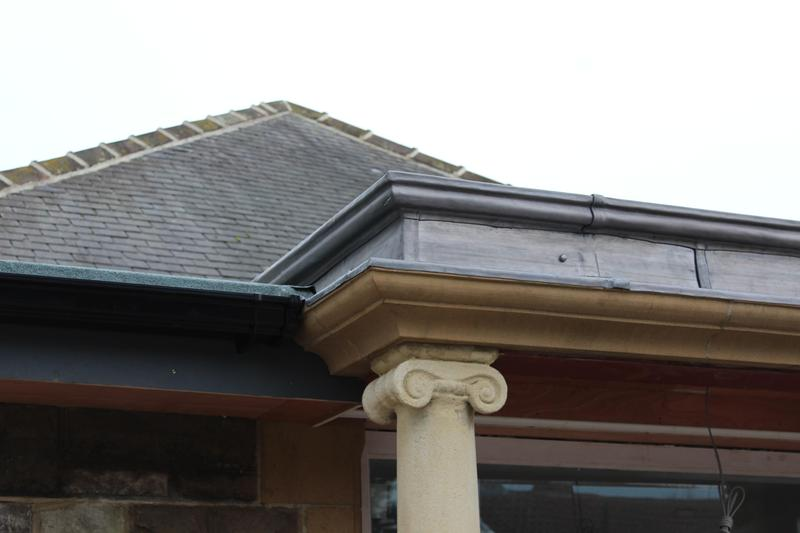 Image 3 - New lead work detail to portico.