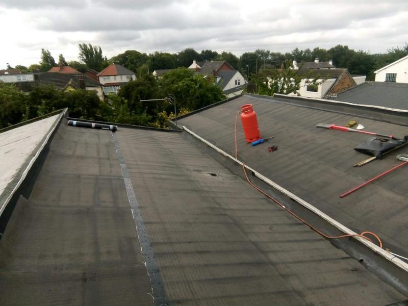 Image 15 - Underlay applied on felt roof