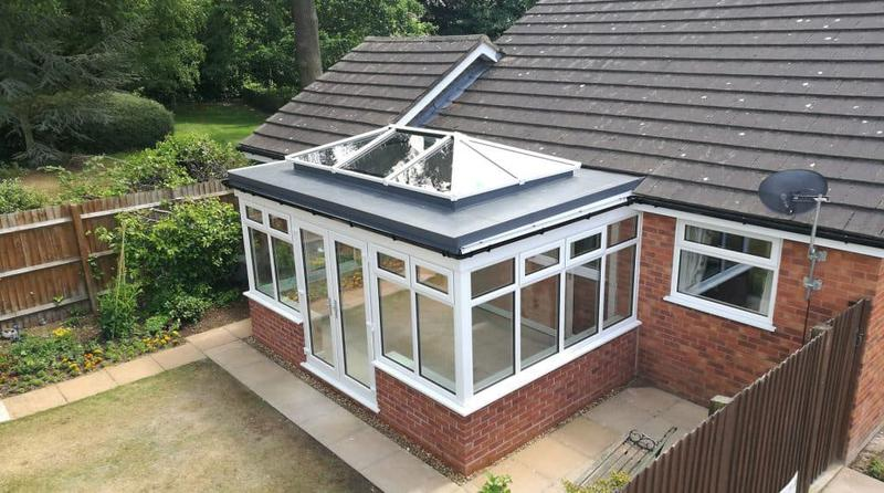 Image 5 - Conservatory roof replacement with flat roof l, grp fibreglass and roof lantern