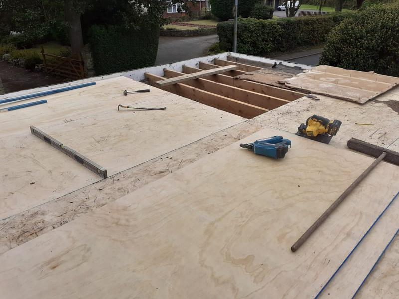 Image 8 - Reboarding of flat roof