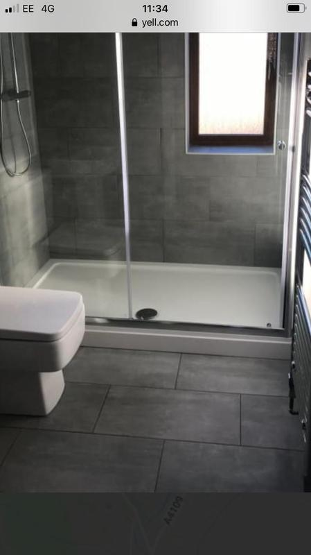 Image 23 - Full bathroom re-fit out, in 300x600 grey porcelain.
