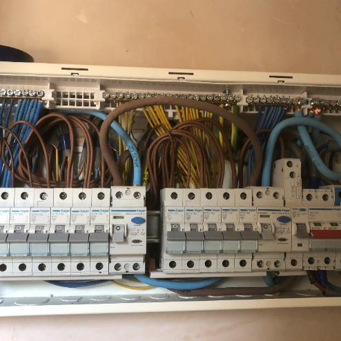 Image 5 - A recent consumer unit on a big new build for Mr A. Huxham
