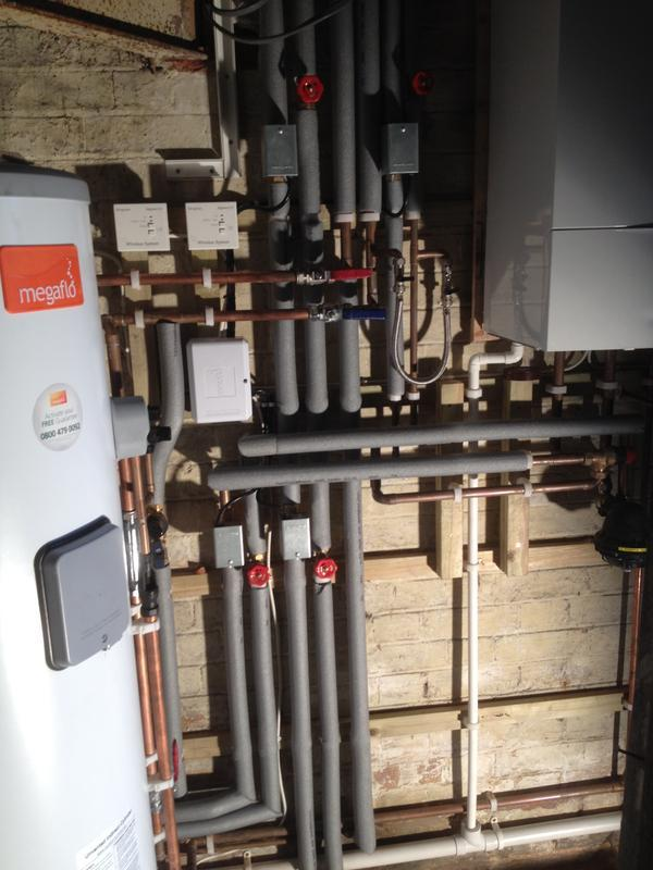 Image 101 - St Albans install , pipes now fully lagged.